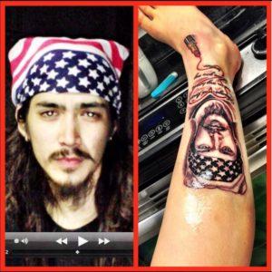 紅蘭の右足には弟の顔がタトゥーとし彫られてる